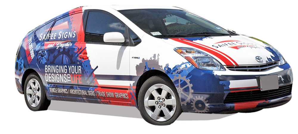 Custom Graphics and Partial Car Wrap